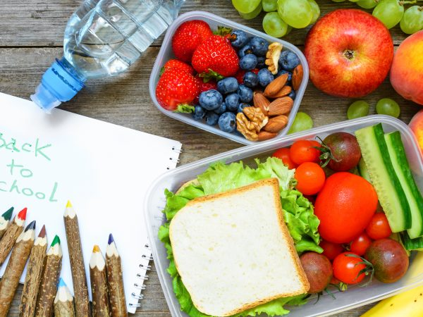 back to school plant-based kids lunch